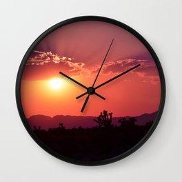 Desert Sunset Silhouettes Wall Clock