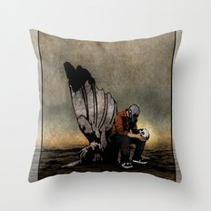 The Angel And The Skull Throw Pillow