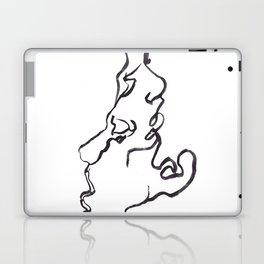 one line kiss Laptop & iPad Skin