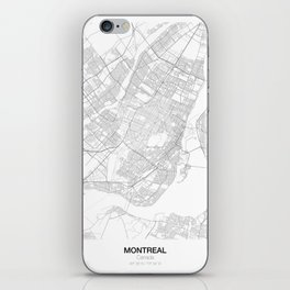 Montreal, Canada Minimalist Map iPhone Skin