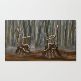 Stick Figures  Canvas Print