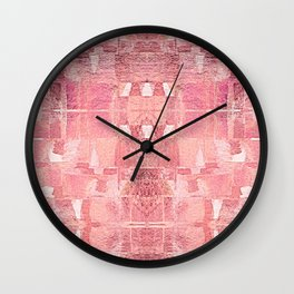 In Love - Rose-Gold Abstract Geometric Shapes Wall Clock