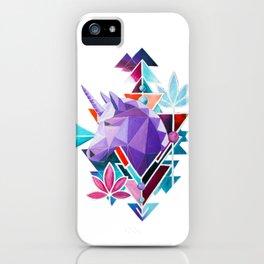 Purple Geometric Unicorn iPhone Case