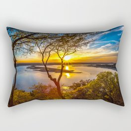Wallpaper Texas USA Lake Travis Nature Sky Scenery Rectangular Pillow