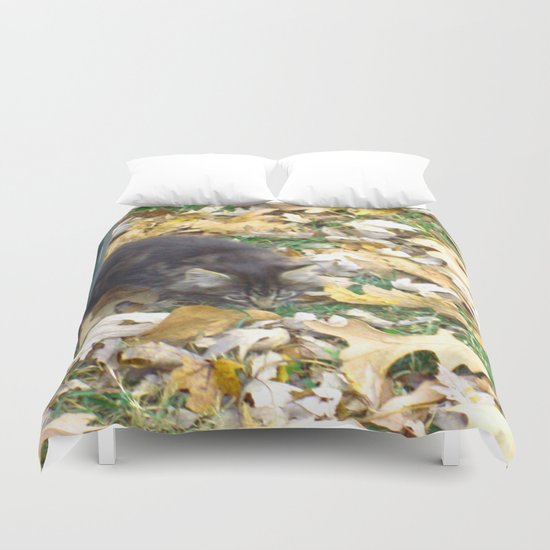 Autumn Kitten Duvet Cover