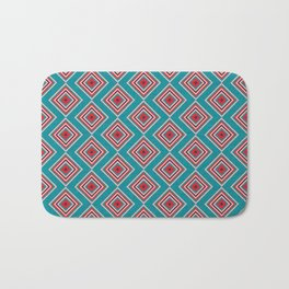 Check Pattern Teal #homedecor #retro Bath Mat