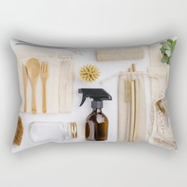 zero waste cleaning and beauty products Rectangular Pillow