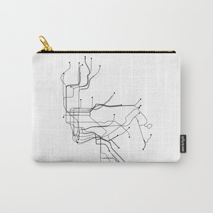 New York Subway Map Wallet.New York City White Subway Map Carry All Pouch By Multiplicity