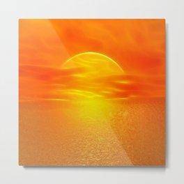 Sonne über dem Meer Metal Print
