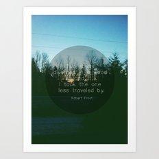 Two Roads (Text Version) Art Print