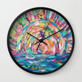 Sunset Bloom Wall Clock