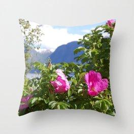 Through The Flowers Throw Pillow