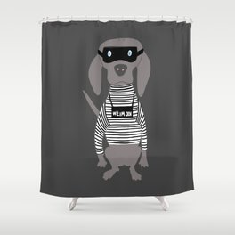 Weim Crime Grey Ghost Weimaraner Dog Hand-painted Pet Drawing Shower Curtain