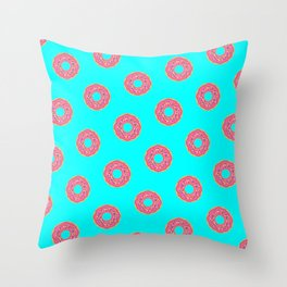 The Donut Pattern Throw Pillow