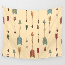 Bohemian hand drawn arrows, 01 Wall Tapestry