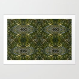 Coconut Leaf Collage Art Print