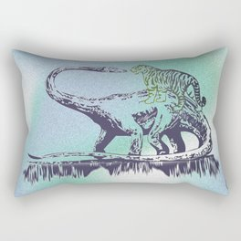 Dinosaur v.s. Tiger Rectangular Pillow