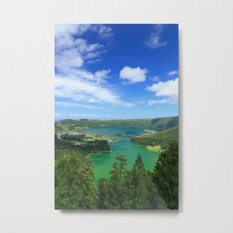 Lakes in Azores Metal Print