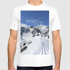 Mount Marathon MEDIUM Mens Fitted Tee White