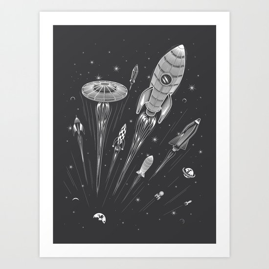 Space Race Art Print
