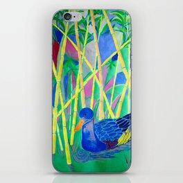 La Papera nello Stagno al Tramonto (Duck in a Pond at Sunset) iPhone Skin