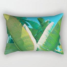 Pop Art Banana Leaf Rectangular Pillow