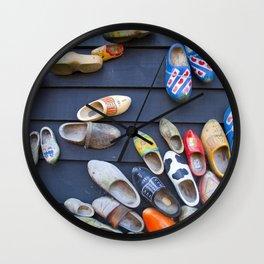 Wodden shoes Wall Clock