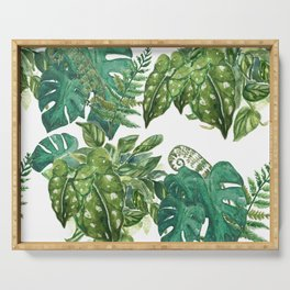 A Pattern of Plants Serving Tray