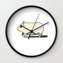 Skate Hamster Wall Clock