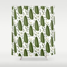 Marching leaves Shower Curtain
