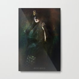 The dark witch Metal Print