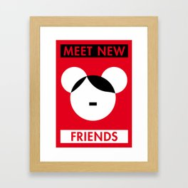 Illustrated new year wishes: #1 MEET NEW FRIENDS Framed Art Print