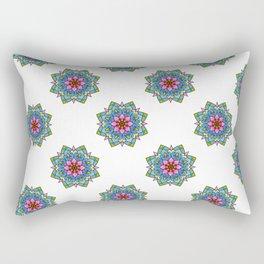 Colourful Botanical Mandala Rectangular Pillow