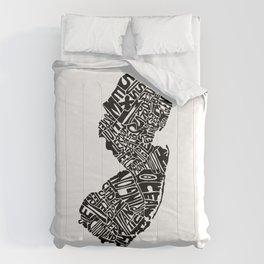 Typographic New Jersey Comforters