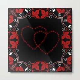 Hearts Entwine Metal Print