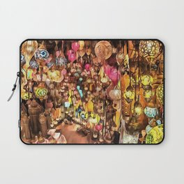 Lanterns, Lamps and Lighting of The Bazaar Laptop Sleeve
