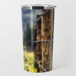Wood Fence Travel Mug