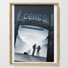 Ceres - NASA Space Travel Posters Serving Tray