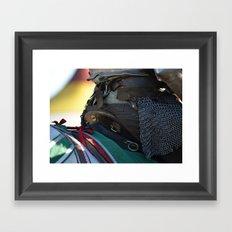 Jousting Horse - Saddle Framed Art Print
