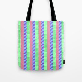 Modern abstract pink teal yellow stripes pattern Tote Bag