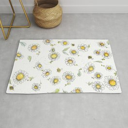 Bees and Daisies Rug