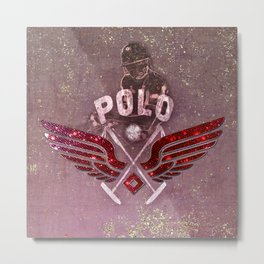 POLO red Metal Print