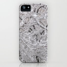 Snow laden trees iPhone Case