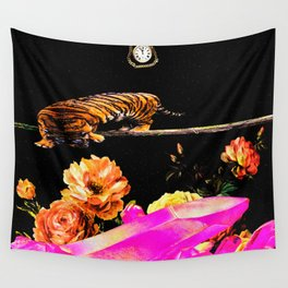 Tiger in Space Wall Tapestry