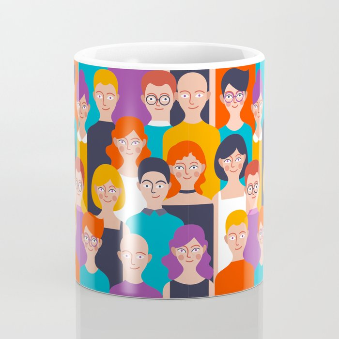 Colorful people pattern Coffee Mug
