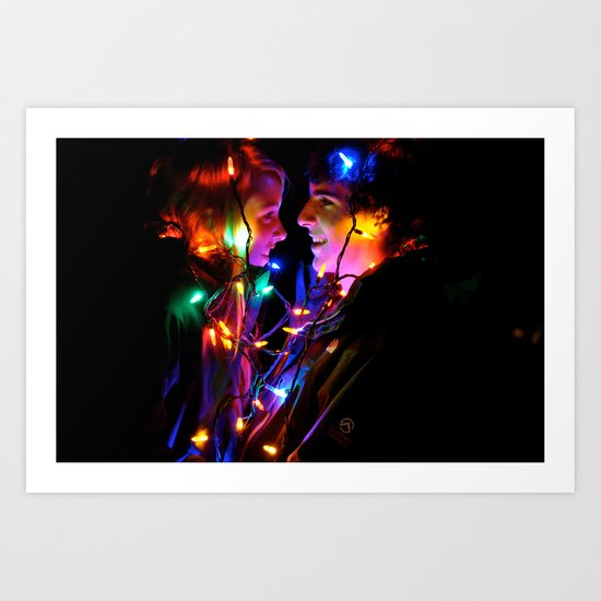Wrapped Up in Lights Art Print