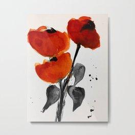 Red Poppys Metal Print