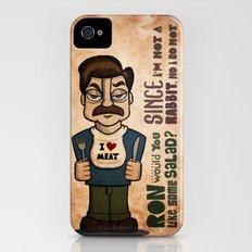 Ron Swanson 2 iPhone (4, 4s) Slim Case