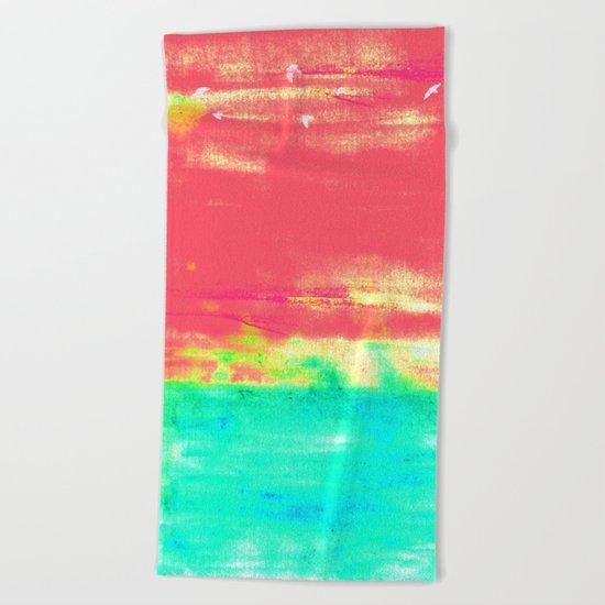 Magenta Sky Beach Towel