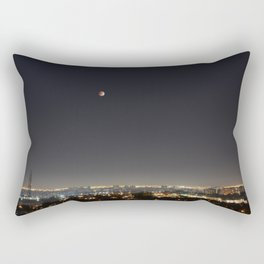 City Blood Moon. Rectangular Pillow